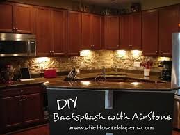 stone backsplash kitchen diy stone backsplash with airstone stilettos diapers