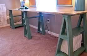Ana White Sawhorse Desk Diy Sawhorse Desks Inspired By Restoration Hardware Apartment