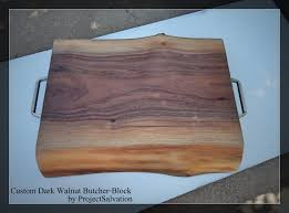 custom live edge butcher block reclaimed wood cutting board by