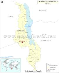 Malawi Map Where Is Lilongwe Location Of Lilongwe In Malawi Map