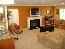 home colours pic brown and orange modern living room decoration