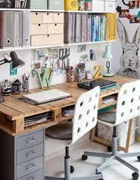 bureau palette bois dcoration palette en bois