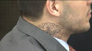aaron hernandez in court with new neck tattoo cnn video