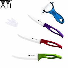 xyj brand kitchen knives utility slicing chef knife zirconia