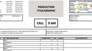 Sheet Template A Free Call Sheet Template To Get Your Crew On The