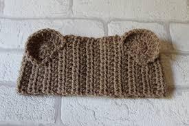 crochet band toddler teddy headband ear warmer crochet band crochet ear