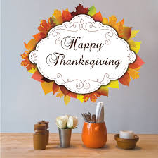 thanksgiving decals happy thanksgiving wall mural decal thanksgiving season stickers