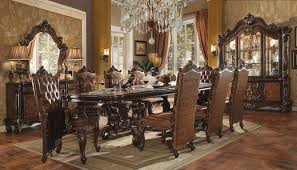 furniture versailles large formal dining room set in cherry