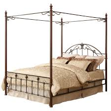 newcastle graceful scroll bronze iron canopy poster bed by inspire