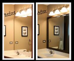 Framing An Existing Bathroom Mirror Diy Framing A Bathroom Mirror Such A Neat Way To Customize The