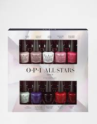 Margarita Gift Set Opi O P I All Stars Mini 10 Pack Nail Polish Gift Set