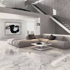arabescato veined white marble effect polished porcelain floor