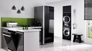 cuisine du frigo cuisine avec frigo noir ensemble stockage at 0290017105501405