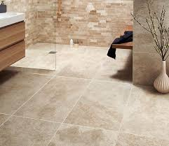 large format beige tiles from topps tiles bathroom
