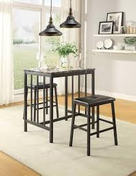 3 piece counter height table set homelegance edgar 3 piece counter height dining set boulevard home
