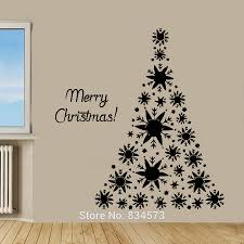 christmas tree wall sticker christmas lights decoration