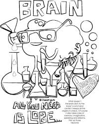 Brain Coloring Page I Heart Guts Brain Coloring Page