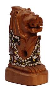 wholesale hand carved 2 5 u201d decoration piece of singapuri lion face