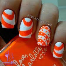 summer fingernail art orange summer nail art summer nail designs