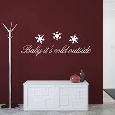 christmas quote wall stickers baby it s cold outside by ta dah christmas quote wall stickers baby it s cold outside