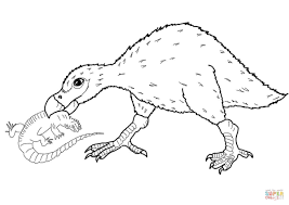 diatryma catches a lizard coloring page free printable coloring