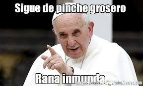 imagenes groseras rana rene sigue de pinche grosero rana inmunda meme de papa francisco