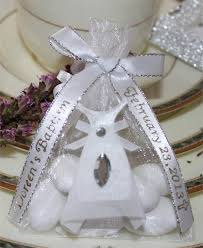 personalized ribbon complete bag with white communion dress almonds and