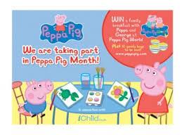 peppa pig month poster ichild