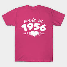 60 year birthday t shirts 60th birthday gifts for women made in 1956 heart design 60