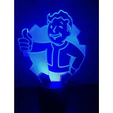 Led Lights For Home Decoration Vault Boy Night Light Color Changing 3d Illusion Led Lamp For Home