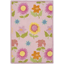 Flower Area Rugs by Pink Floral Rug Roselawnlutheran