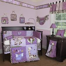 bedroom white black and purple crib baby bedding set ideas the