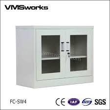 Storage Cabinets Glass Doors China Half Height Swing Glass Door Office Filing Storage Cabinets