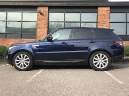 blue range rover used blue land rover range rover sport for sale leicestershire