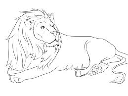 lions coloring pages angry lion pictures king color animal