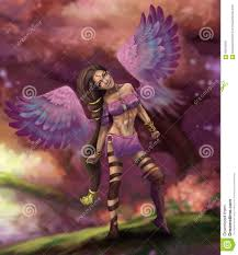 Beautiful Fairies by Beautiful Fairy Elf With Angel Wings Stock Illustration Image