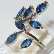 model cincin blue safir blue sapphire sterling silver 925 ring 5 5 cincin wanita