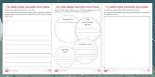 ten little lights character descriptions differentiated activity