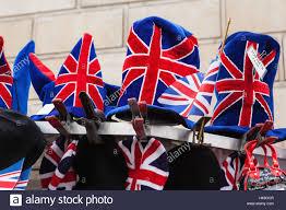 great britain london souvenir british flags stock photo