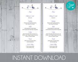 cornflower tea length menu template free color change instant