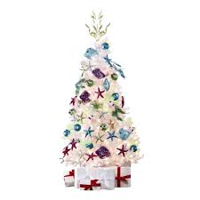 6 5 white tinsel artificial tree with clear lights