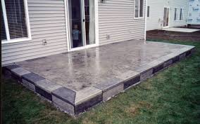 Patio Backyard Ideas by Contemporary Raised Concrete Patio Designs Ideas Design With Steps