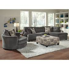 White Fur Ottoman by Living Room Living Room Furniture Light Gray Sectional Sofa With