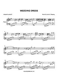 wedding dress piano sheet taeyang wedding dress piano sheet with letters wedding ideas