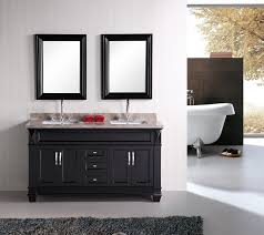 bathroom classy white ceramic decorating wall black varnished