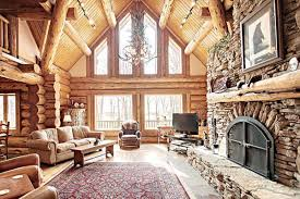 Unique And Beautiful Stone Fireplace by Love It All The Wood Mantle On The Stone Fireplace Is