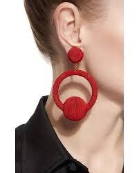 hoop la earrings de ravenel hoop la la earrings in lyst