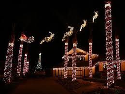 outdoor decorations santa and reindeer