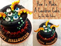 make a halloween cake how to make a cauldron cake for halloween she who bakes