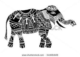 doodle indian indian elephant doodle indian stock vector 368721800